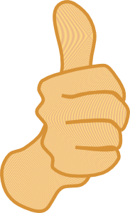 Thumbs Up 3 Clip Art