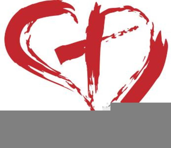 cross inside heart clipart free images at clkercom