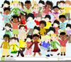 Children Of The World Clipart Free Image