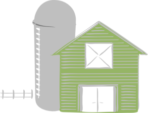Green Barn Clip Art