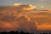 Billowing Clouds Sunset Image