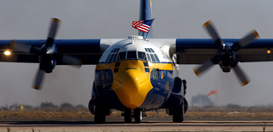 The Marine Corps Manned C-130 Aircraft Affectionately Called Fat Albert From The Navy Blue Angels Performs With The Precision Flight Demonstration Team At The Miramar Air Show At Marine Corps Air Station (mcas) Miramar, Calif. Image