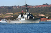 The Guided Missile Destroyer Uss Decatur (ddg 73) Makes It Image