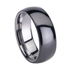 Mm Shiny Tunsten And Black Ceramic Ring Image