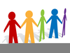 Stick Figures Holding Hands Clipart Image