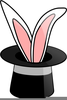 Magic Hat And Rabbit Clipart Image