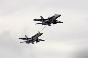 Two F/a-18 Hornets Refuel Image