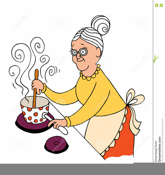 Grandma Cooking Clipart | Free Images at Clker.com ...