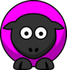 Sheep Looking Straight Pinky-purple Clip Art