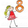 Figure Eight Clipart Image
