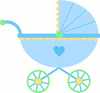 Baby Stroller Clipart Image
