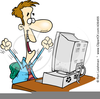 Free Frustrated Computer User Clipart Image