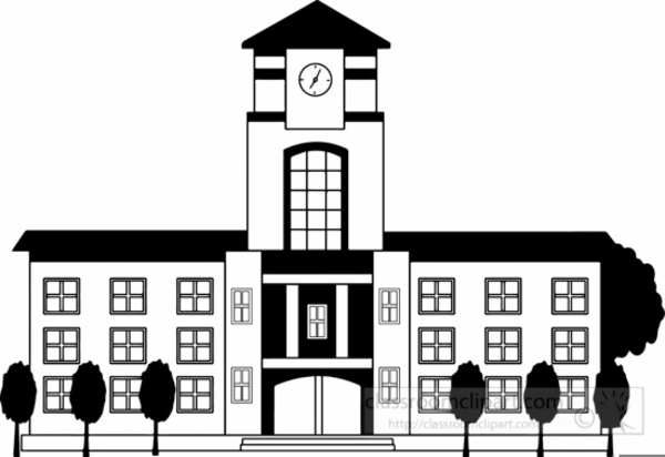 High School Buildings Clipart   Free Images at Clker.com ...