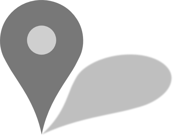 Free Google Maps Pointer Icon: Google Maps Grey Marker W/ Shadow Clip Art At Clker.com