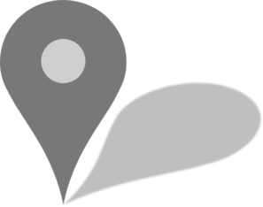 Google Maps Grey Marker W/ Shadow Clip Art