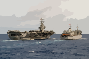 The Nuclear-powered Aircraft Carrier Uss Carl Vinson (cvn 70) And Fast Combat Support Ship Uss Sacramento (aoe 1) Engage In An Underway Replenishment (unreps) Clip Art