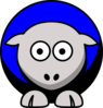 Sheep Colors 4 Black, Blue, Silver And White Clip Art