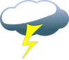 Lightning Cloud Clip Art