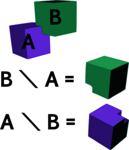 Difference Of Two Cubes Clip Art