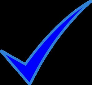 blue check mark clip art at clker com vector clip art online rh clker com