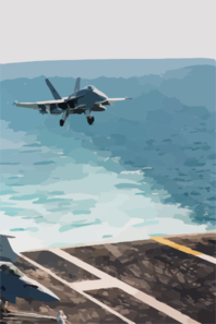 An F/a-18c Hornet, Assigned To Strike Fighter Squadron One One Three (vfa-113), Prepares To Land On The Flight Deck Of The Aircraft Carrier Uss Abraham Lincoln Clip Art