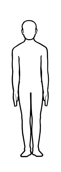 Male Figure Outline Clip Art at Clker.com - vector clip art online ...