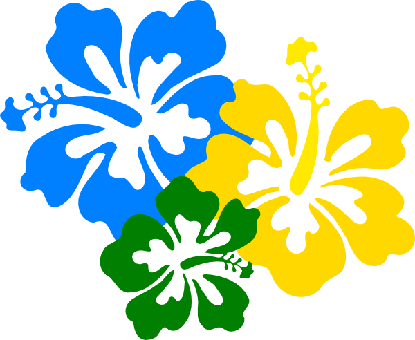 Hibiscus Flowers 3 Clip Art at Clker.com - vector clip art online ...