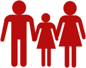 Family Holding Hands Red Clip Art