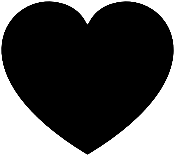 Black heart clip art at clker vector clip art online royalty download this image as voltagebd Choice Image
