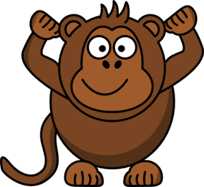 monkey clip art at clker com vector clip art online royalty free rh clker com clipart of monkey black and white clipart of monkey face