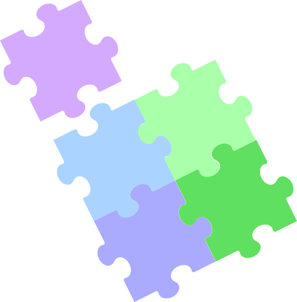 Jigsaw Puzzle - Pastel 2 Clip Art at Clker.com - vector ...
