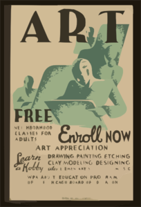 Art - Free Neighborhood Classes For Adults ... Enroll Now Clip Art
