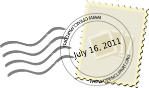 Postal Stamp 2011 Revised Clip Art