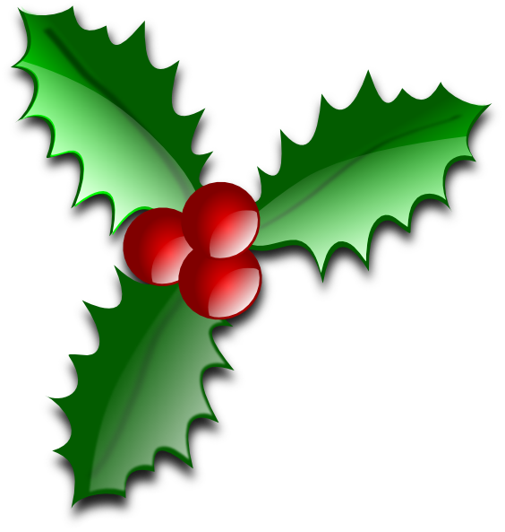 Christmas Leaves Clip Art at Clker.com - vector clip art online ...