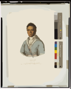 David Vann. A Cherokee Chief  / Drawn, Printed And Col D At The Lithographic & Print Colouring Establishment, No. 94 Walnut St., Phila. Clip Art