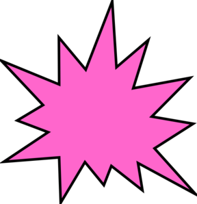 pink star burst clip art at clker com vector clip art online rh clker com starburst clip art templates starburst clipart by franciscan
