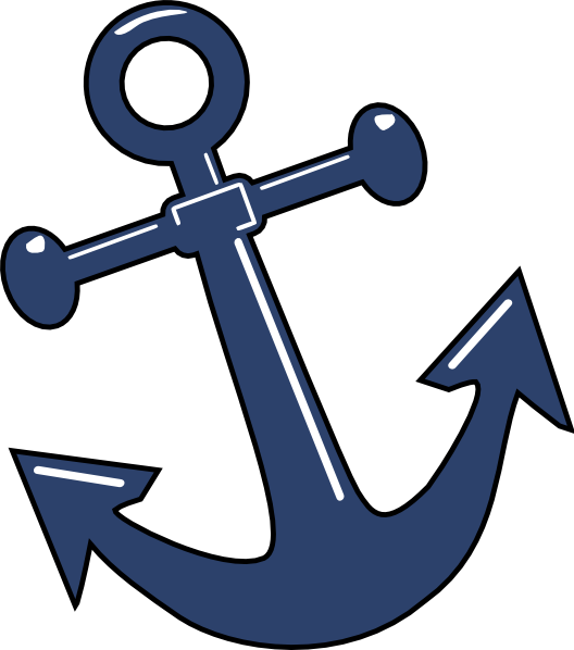 Tilted Anchor Clip Art at Clker.com - vector clip art ...