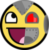 Cyborg Smiley Clip Art