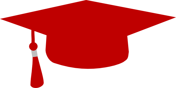 Red Mortarboard Clip Art At Clker Com Vector Clip Art