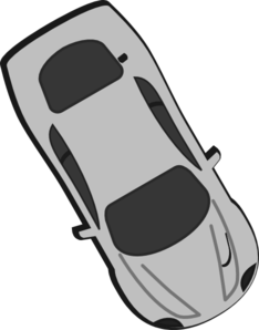 Gray Car - Top View - 300 Clip Art