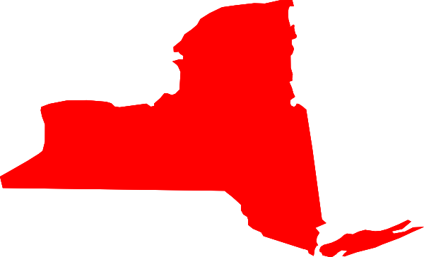 New York Map Clipart