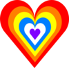 Rainbow Heart Clip Art