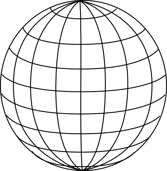 Big Blue Wire Globe Clip Art at Clker.com - vector clip ...