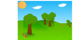 Landscape With Trees Clip Art