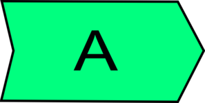 Arrow With An A Green Clip Art