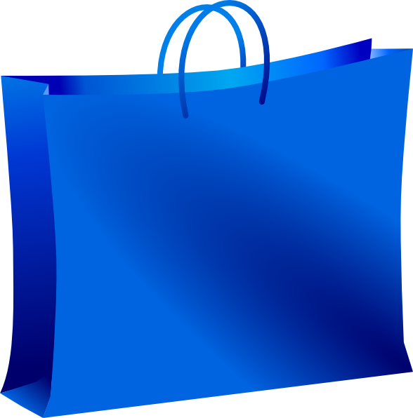 Blue Shopping Bag Clip Art at Clker.com - vector clip art ...