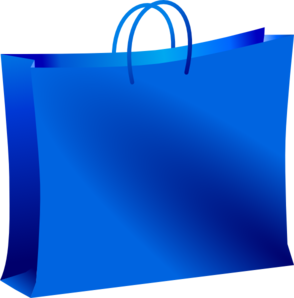 Blue Shopping Bag Clip Art at Clker.com - vector clip art online ...