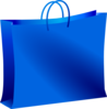 Blue Shopping Bag Clip Art