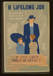 A Lifelong Job--the Constant Protection Of Their Health--the Cook County Public Health Unit  / E.s. Reid. Clip Art