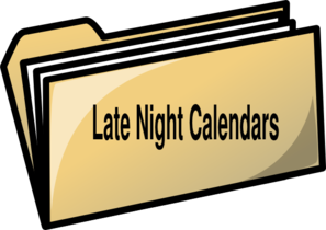Late Night Calander Clip Art